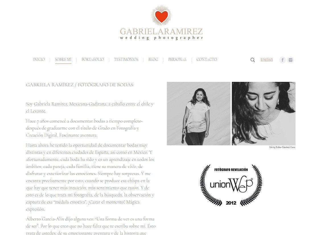Diseño Web Gabriela Ramirez