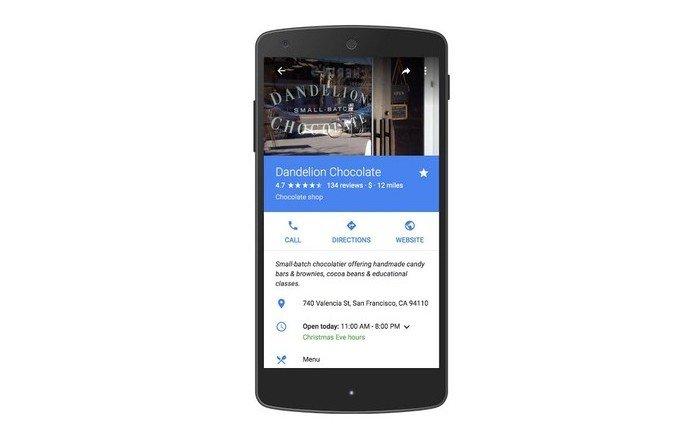 Google Maps ya muestra los horarios de vacaciones de los negocios